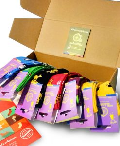 cutie sosete pentru copii 7 perechi multicolore